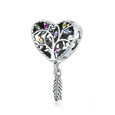 AU25.99 • Buy SOLID Sterling Silver Colour Tree Of Life Dream Catcher Charm - YOUnique Designs