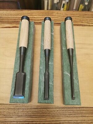 New Set Of 3 Japanese Bench Chisels Oire Nomi Nijihiro Brand By Imai • 200£