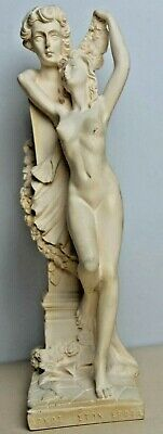 Vintage Greek Greece Woman Bust Resin Statue Figurine Ornament Pillar 9.5   • 24.99£
