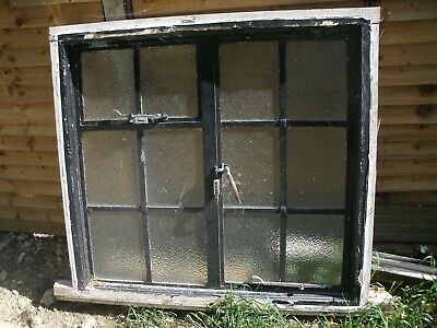 £245 • Buy ARCHITECTURAL ANTIQUES - ORIGINAL ART DECO CRITTALL WINDOW IN FRAME -109x102CMS