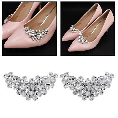 £5.06 • Buy Crystal Shoe Clips Women Decorative Shoes Buckles Clips Prom Shoe Charms