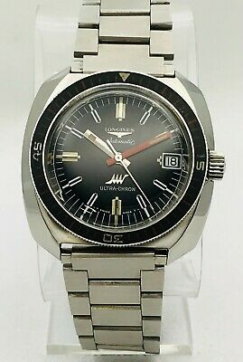 £1365.24 • Buy Vintage Longines Automatic Ultra-Chron Stainless Steel Divers Watch 7970-1