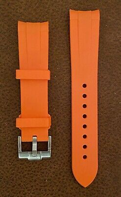 20mm/18mm Silicone Rubber Watch Strap For Omega Seamaster Watch Or Other Brands. • 12.95£