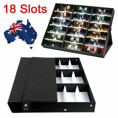 AU32.85 • Buy X18 Slots Sunglasses Display Counter Stand Storage Rack Cabinet Organizer Tray