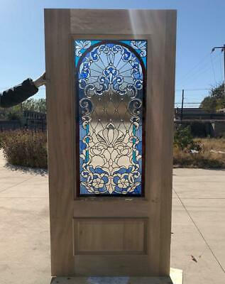 $1500 • Buy Hand Made Leaded Stained Glass Mahogany Entry Door - Jhl164