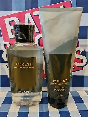 £18.99 • Buy Bath And Body Works Mens Collection Forest Shower Gel And Body Cream Set