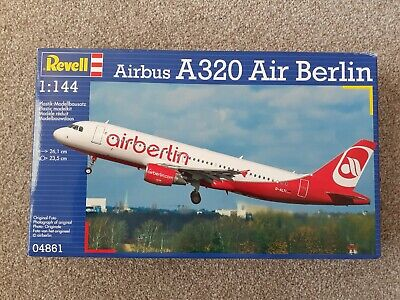 Revell 1/144 Scale A320 Airbus Air Berlin Plastic Model Kit SKU 04861 • 11£