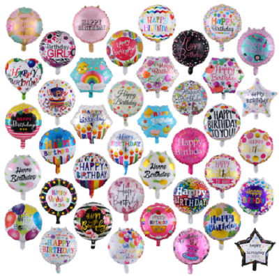 £2.99 • Buy UK - Large 18  Inch Helium & Self Inflating Happy Birthday Foil Party Balloons
