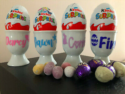 £4.45 • Buy Personalised Egg Cup Ceramic -dippy Easter Chocolate Soldiers Name Girls/boys