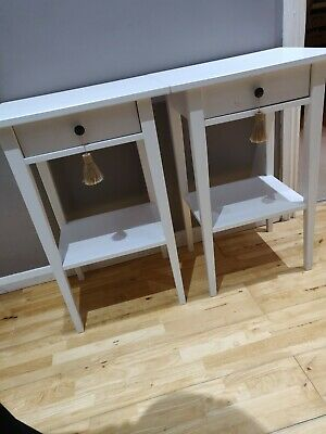 Ikea Hemnes Bedside Tables X 2 - White Stain • 75£