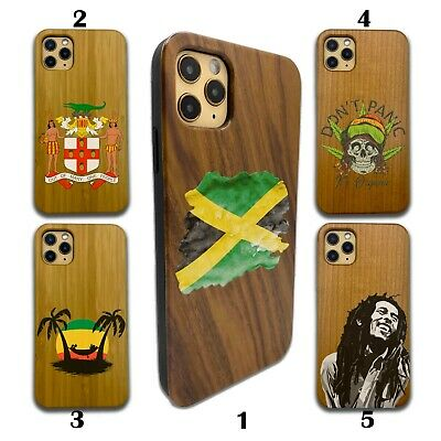 £10.61 • Buy Jamaica Wooden Case For IPhone 12 Pro Max 11 XR SE X 8 7 6 Plus Wood SN159