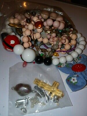 $ CDN17.17 • Buy C0$tume Jewelry Lot- UNSEARCHED, UNTESTED, Vintage To New Estate Bag/Box 314 Gms