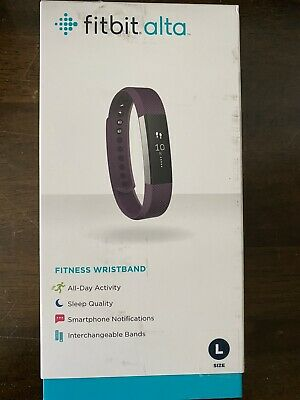 AU59 • Buy Fitbit Alta Fitness Wristband Stainless Steel Tracker Plum Band - Large