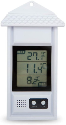 Digital Max/min Thermometer For Conservatories, Greenhouses & Grow Rooms White • 12.44£