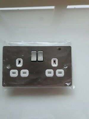 LAP 13 Amp Double Switched Socket Outlet • 5£