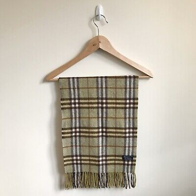 £27.99 • Buy BURBERRY Scarf - Check Checked - 100% Authentic - 100% Cashmere Men's Women's