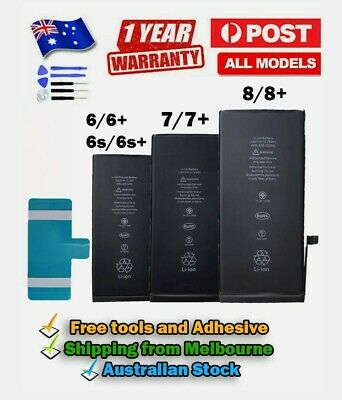 AU17.20 • Buy NEW High Quality Battery Replacement For IPhone  6 6S 7 8 Plus
