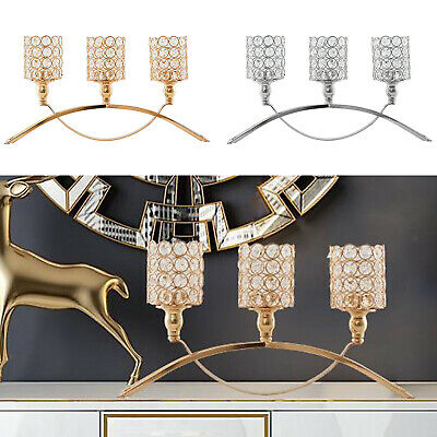 £29.58 • Buy Elegant Candle Holders 3 Arms Candelabra Tabletop Wedding Table Centerpieces