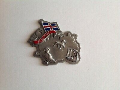 Iceland Map, With Flag Souvenir Fridge Travel Metal Magnet  • 9.20£