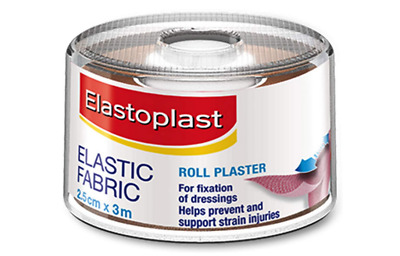 Elastoplast Roll Plaster Tape First Aid Elastic Fabric Strapping 2.5cm X 3m  • 5.39£