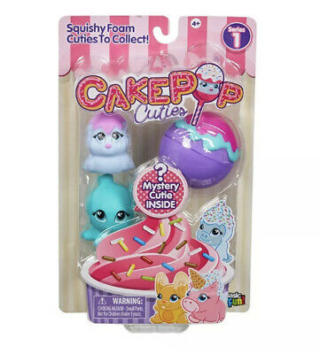 CAKE POP CUTIES MULTI PACK SQUISHY FOAM CHARACTERS - New With Opened Box • 2.99£