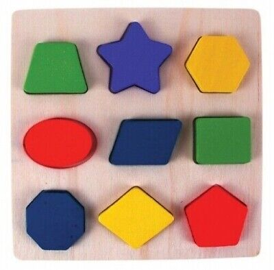 £4.99 • Buy New In Box Baby Toddler Wooden Shape Sorting Puzzle Fun Early Learning UK Seller