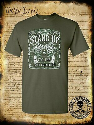 $15.95 • Buy Stand Up For The 2nd Amendment T-Shirt / USA Eagle 1776 Proud American Freedom