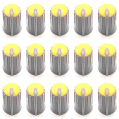 $10.99 • Buy 15PCS Replacement Rotary Control Knob Cap For MACKIE CFX16 6mm D Shaft (Yellow)