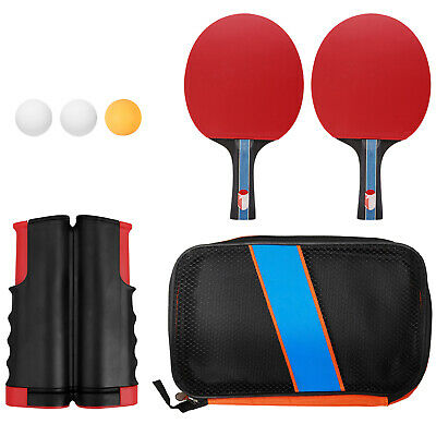 Table Tennis Portable Ping Pong Set Retractable Net 2 Bats 3 Ping Pong Balls • 17.25£