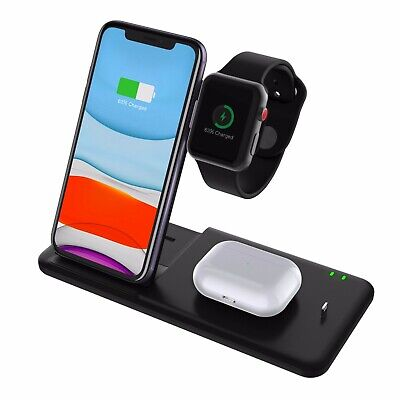 AU35.99 • Buy 15W 4 In 1 Wireless Charging Station Dock Charger Stand Watch Air Pods IPhone