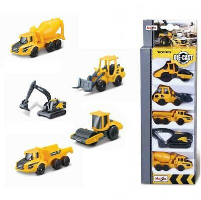 $ CDN22.14 • Buy Volvo Construction 5 Pack Diecast Vehicles Digger Dumper Truck Roller Gift Toy