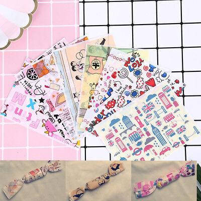 £4.76 • Buy 100pcs Cartoon Print Diy Waterproof Dry Wax Papers Food Candy Wrapping TissuDIFY