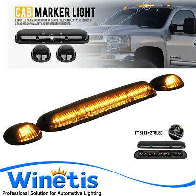 $56.99 • Buy Cab Top Roof Marker Lights Amber Yellow LED For 02-07 Chevy Silverado GMC Sierra