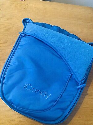 Genuine ICandy Apple 2 Pear Seat Unit Footmuff Bluebell Blue Upper / Lower • 20£