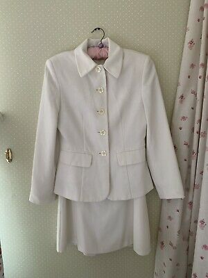 £24 • Buy M&S -Stylish 'Jackie O' Style Cream Mini A-Line Dress/ Fitted Jacket.Small/ 8.