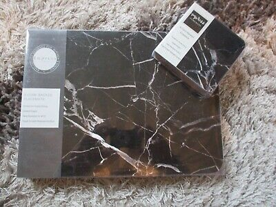 £15.99 • Buy Set 6 Place Mats And Matching Coasters IMPRESS BLACK MARBLE Home Dining BNIB