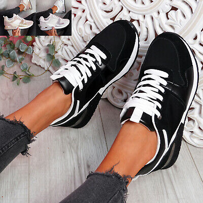 $ CDN29.79 • Buy Womens Ladies Lace Up Glitter Sole Trainers Sneakers Lace Up Women Shoes Size