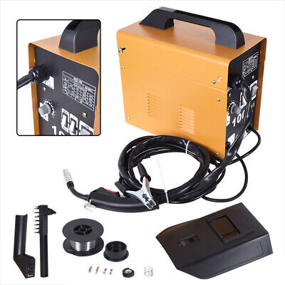Portable Gasless MIG100 Welder Amp Auto Flux Wire Feed Welding Machine 230V Kit • 79.99£