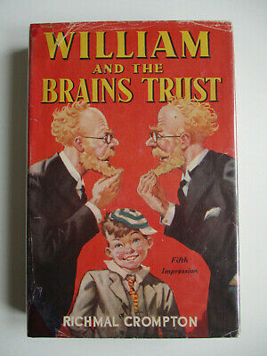 1952 WILLIAM AND THE BRAINS TRUST Richmal Crompton FIFTH IMPRESSION HARDBACK D/J • 22.50£