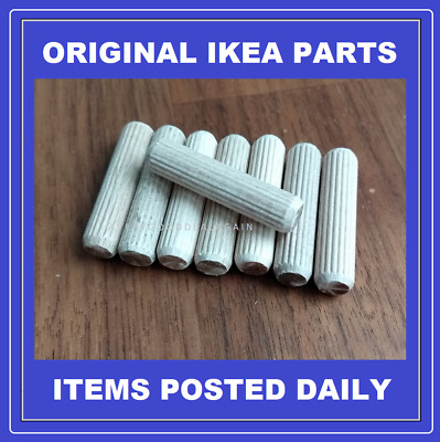 Ikea Billy Metod Dowel Fixing Pin X8 New Genuine Spare Replacement Parts 101351 • 3.95£