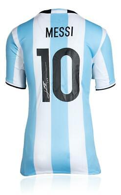 AU1645.76 • Buy Lionel Messi Signed 2016 Argentina WC Jersey Auto Icons & JSA COA Leo Barcelona