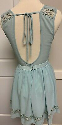 £6.37 • Buy Nwt Mint Aline Backless Bow Faux Lace Dress Size M Medium