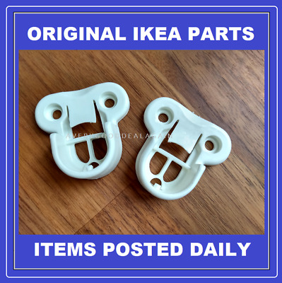 IKEA PAX Wardrobe Brackets Clips For Komplement Hanging Rail WHITE 130527 X 2  • 9.95£