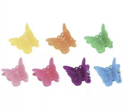 £2.99 • Buy 8 Mini Butterfly Claw Clips Mix Of Colours 2cm, Small Plastic Hair Claws