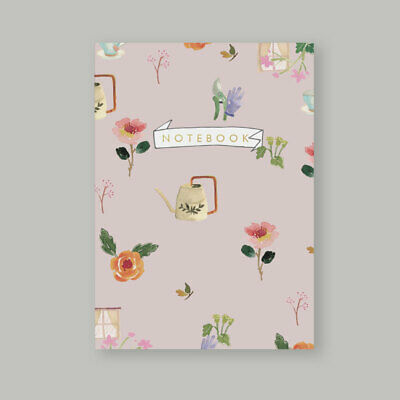 AU25 • Buy A5 Bullet Dot Grid Journal Notebook 80 Pages 120gsm Roses Gardening AUS Made