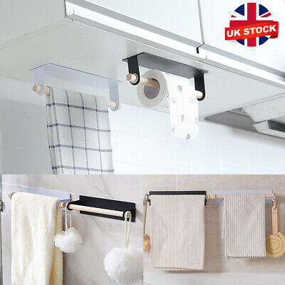£5.69 • Buy Under Cabinet Kitchen Roll Holder Papers Toilet Towel Storage Rack Self Adhesive