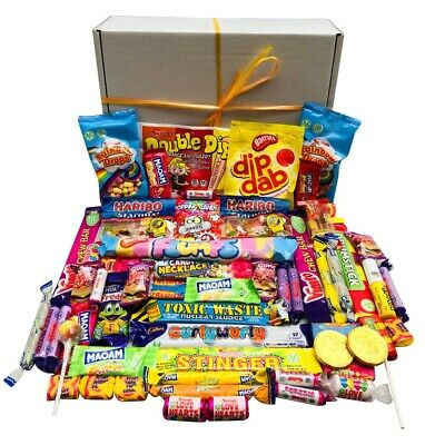 Pick N Mix The Ultimate Retro Sweets Box Sweet Hamper Present - Gift Message • 12.99£