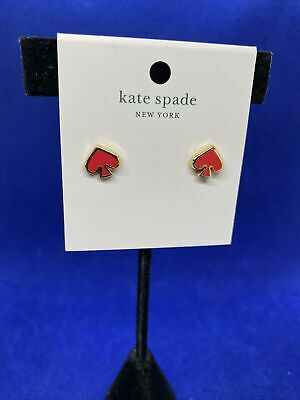 $ CDN24.18 • Buy Kate Spade Everyday Spade Earrings  Coral  NWT