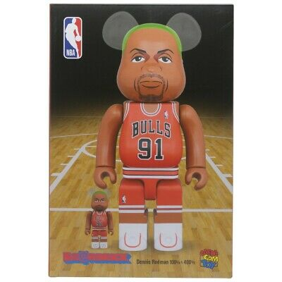 $180 • Buy Medicom BE@RBRICK NBA Dennis Rodman 100% 400% Bearbrick Figure Set