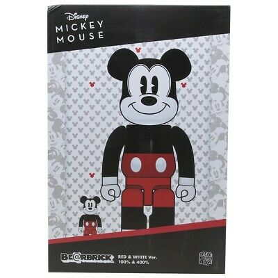 $175 • Buy Medicom BE@RBRICK Disney Mickey Mouse RW 2020 Ver. 100% 400% Bearbrick Set